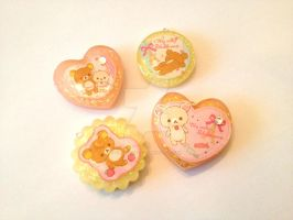 Rilakkuma Resin Charms by tiramisuxfluff