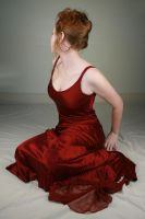 Woman Red Dress IX by IQuitCountingStock