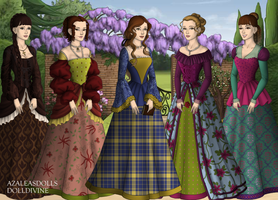 Bennet sisters - Pride and Prejudice by BlueFairy123
