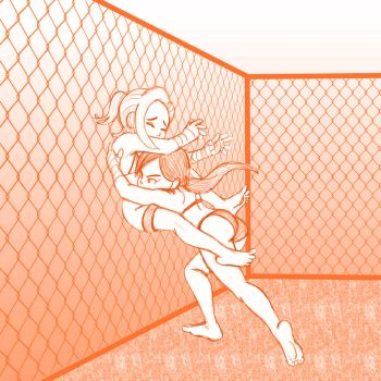 Amber vs. Kylie - Slammed against the Cage by Grace-of-your-dreams