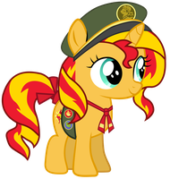 Filly Scout Sunset Shimmer by Ahsokafan100