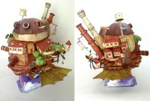 howl's moving castle by ikarusmedia