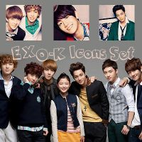 EXO-K Icons Set by kamjong-kai