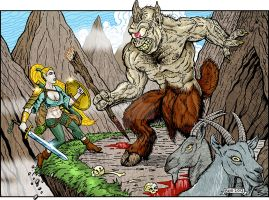 CAC407-Mountain Encounter by BKMcDevitt