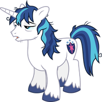 Shining Armor tired (Vector) by Chrzanek97