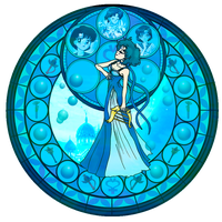 KH Stained glass- Mercury by CL-Pinkskull