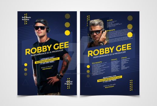 ProDJ - DJ Press Kit / DJ Resume PSD Template by iamvinyljunkie
