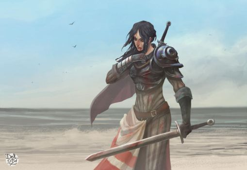 Beach guardian by juliodelrio