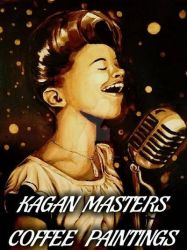 The Jazz Singer, Coffee Painting by Kagan Masters by KaganMasters