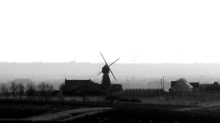 Mill in the mist by BananaImpact