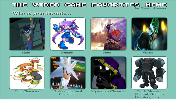 Erin's Video Game Favorites by mastergamer20