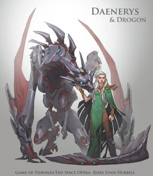 Game of Thrones, the Space Opera- Daenerys by Koryface