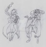OC - Raphaela (left) Wasaki (right) by snoop19922002
