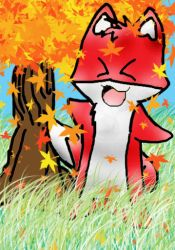 Pyong Fox Autumn by Princess-Shadow