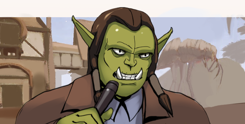 Stand-up Comedian Orc by MattPilh