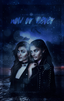 now or never, wattpad cover by larriereligion