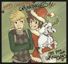 Christmas Card - School is insane! by VanyCat