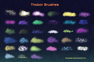 Thobar Brushes  Autodesk Sketchbook Pro (PC) by KarenStraight