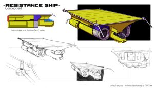 Resistance Ship from Rockman Zero 2 : concept-art by Tomycase