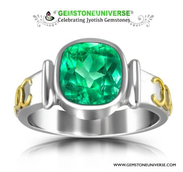 Bright and Alive Colombian emerald with Parrot Gre by gemstoneuniverse