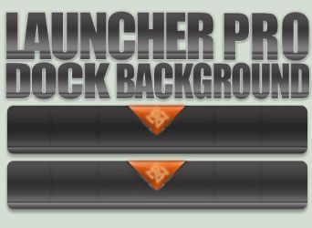 Space Interface - Launcher Pro Dock Background by 13arrio