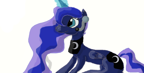 Gamer Luna:Playing minecraft by PrincesssLuna