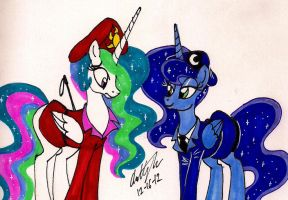 Princesses as Commanding Officers by newyorkx3