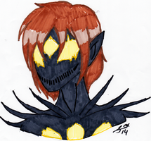 LINELESS MARKER COLORING PRACTICE: Eclispe by InvaderIka