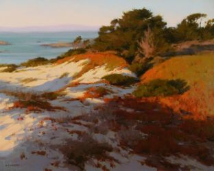 Laurie Kersey - Dunes at Sunset by OilPaintersofAmerica