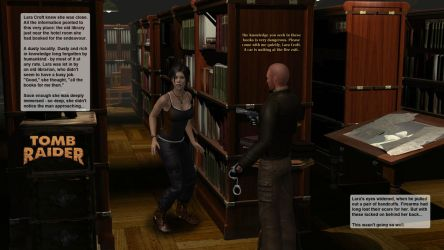 Lara Croft in the dusty library by honkus2