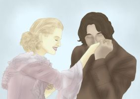 Rumpelstiltskin + Princess Emma Swan by BLOOD-and-LUST-87