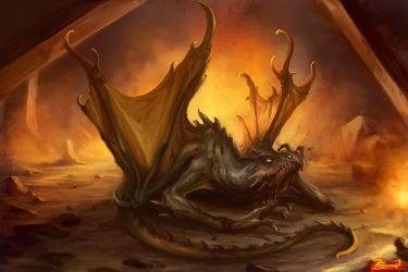 Grounded Dragon by PaladinPainter