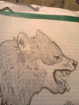 first realistic wolf by Puppiesareawesome001