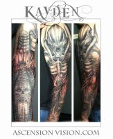 HR Geiger biomechanical sleeve by kayden7