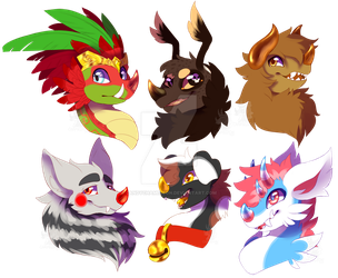 Chimereon busts by CandyChameleon