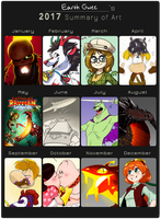 2017 Summary of Art by EarthGwee