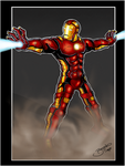 Iron Man Re-Design in Action by BouncieD