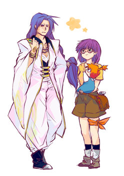 Lucca and Magus by PixivAlt