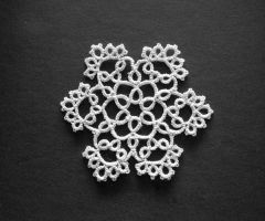 White Tatted Snowflake by Erzsabet
