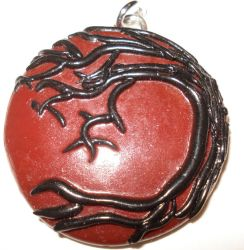 red pendant with black tree by shatteress