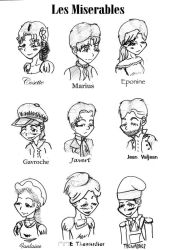 les Miserables characters by 0Indiantiger0