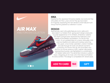Nike Air Max UI Design by Quiless