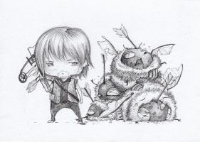 Daryl Dixon and ZomBEES! by camilladerrico
