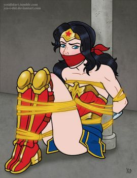 Wonder Woman Lassoed by Yes-I-DiD