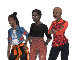 Women of Wakanda by pencilHead7