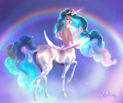 Princess Celestia by Skadivore