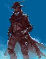 Gunslinger by fantasio