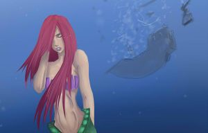 Ariel practice painting by lonelion4ever