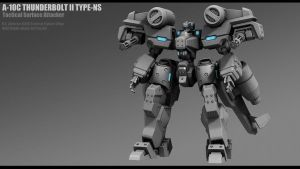 A-10C Thunderbolt II WIP by Nshade3d