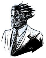Harvey Dent, Two-Face by dennisculver